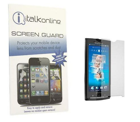 iTALKonline S-Protect LCD Screen Protector and Micro Fibre Cleaning Cloth - For Sony Ericsson X10 Xperia