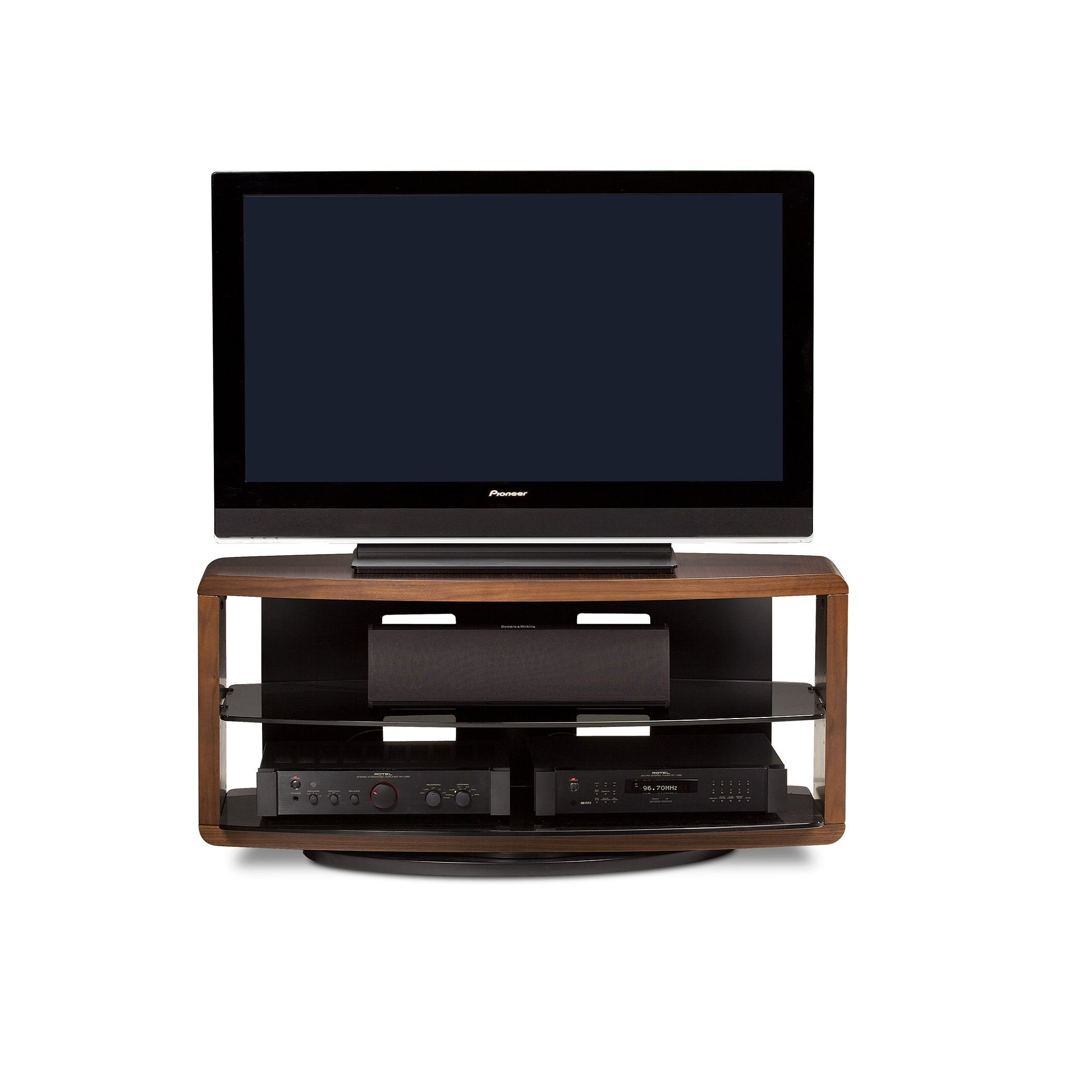 BDI Valera 9724 TV Stand up to 50'' TV's - Chocolate Walnut at Tesco Direct