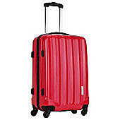 Luggage Zone Hard 4-Wheel Medium Gloss Coral Suitcase