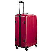 Luggage Zone 4-Wheel Medium Gloss Coral Suitcase