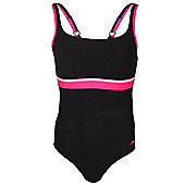 Speedo Sculpture Contour Womens Ladies Swimsuit Swim Costume - Black