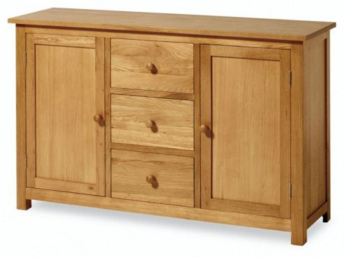 Kelburn Furniture Washington Oak 3 Drawer Sideboard