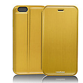 CaseBase Flip Folio Case for Apple iPhone 6 Plus and Iphone 6s Plus - Gold