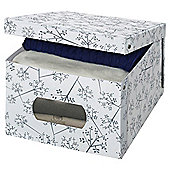 Domopack Extra Large Garment Box, White Leaf