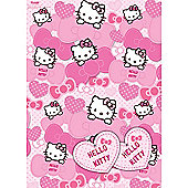 Hello Kitty 2 Sheets of Giftwrap and 2 Gift Tags