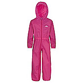 Trespass Button All In One Waterproof Rain Suit - Pink
