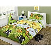 Rapport Kids Cheeky Monkeys Single Quilt Set Multi Coloured