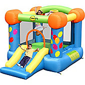 Party Slide and Hoop bouncy Castle 9070