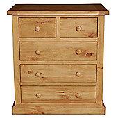 Furniture Link Devon 2 Over 3 Drawer Chest