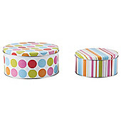 Tesco Brights Set of 2 Cake Tins