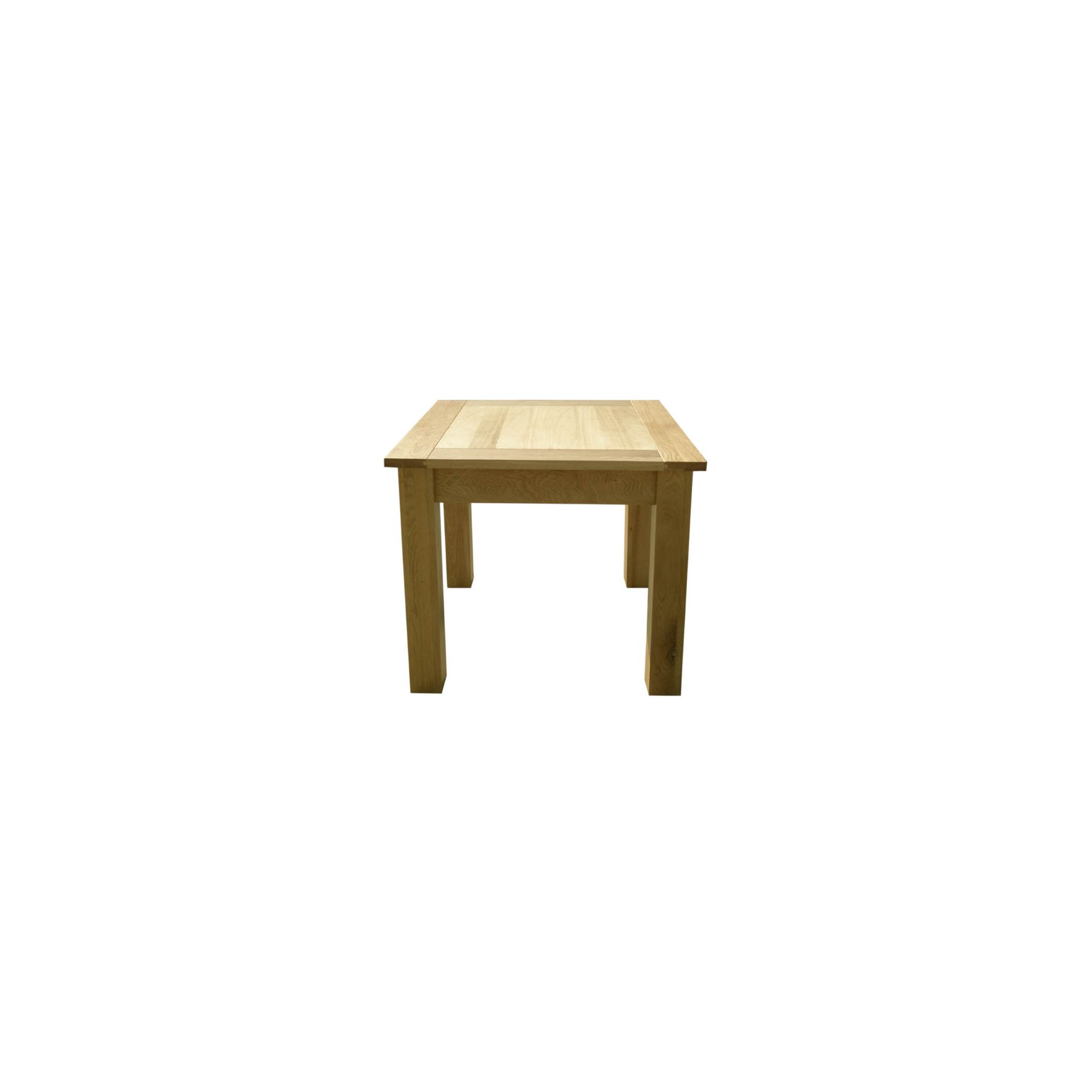Home Zone Furniture Lincoln Solid Oak Dining Table - 90cm