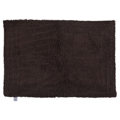 buy tesco reversible bath mat chocolate from our bath mats. Black Bedroom Furniture Sets. Home Design Ideas