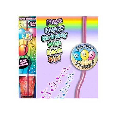 Musical 'Happy Birthday' Drinking Straw
