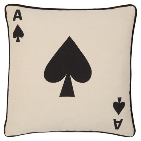 F&F Home Ace Of Spades Cushion