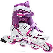 SFR Phantom White/Lilac Kids Recreational Inline Skates - Purple