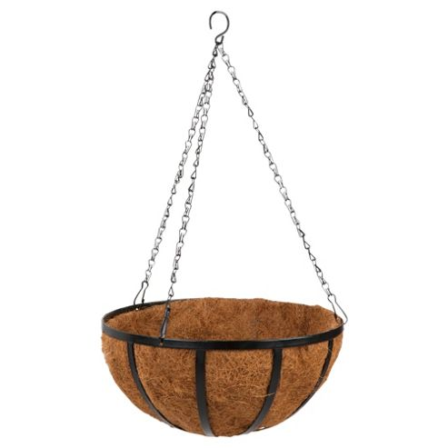 Dobbies Essentials Hanging Basket with Coco Liner, 35 cm