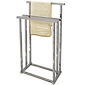 Pizo - Metal 3 Rung Towel Rail / Drying Rack - Silver