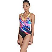 Speedo Ladies Placement Digital Powerback Swimsuit - Multi