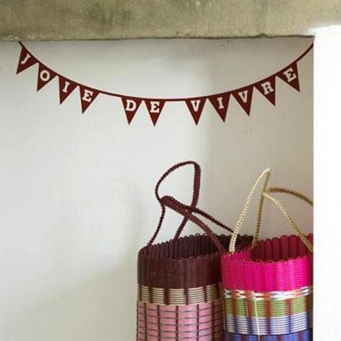 Joie Bunting Wall Sticker