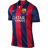 2014-2015 Barcelona Home Nike Football Shirt - Red