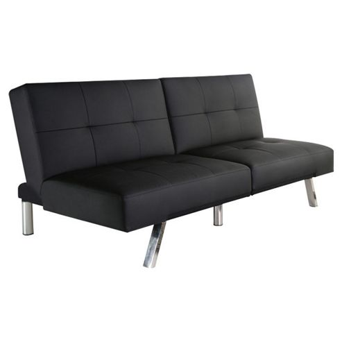 Leader Lifestyle Royale Foldable Futon Sofa bed - Black PU Leather