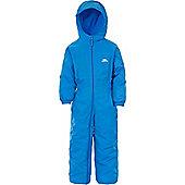 Trespass Kids DripDrop All In One Padded Waterproof Rain Suit - Blue