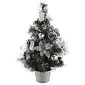 Mini decorated tree silver