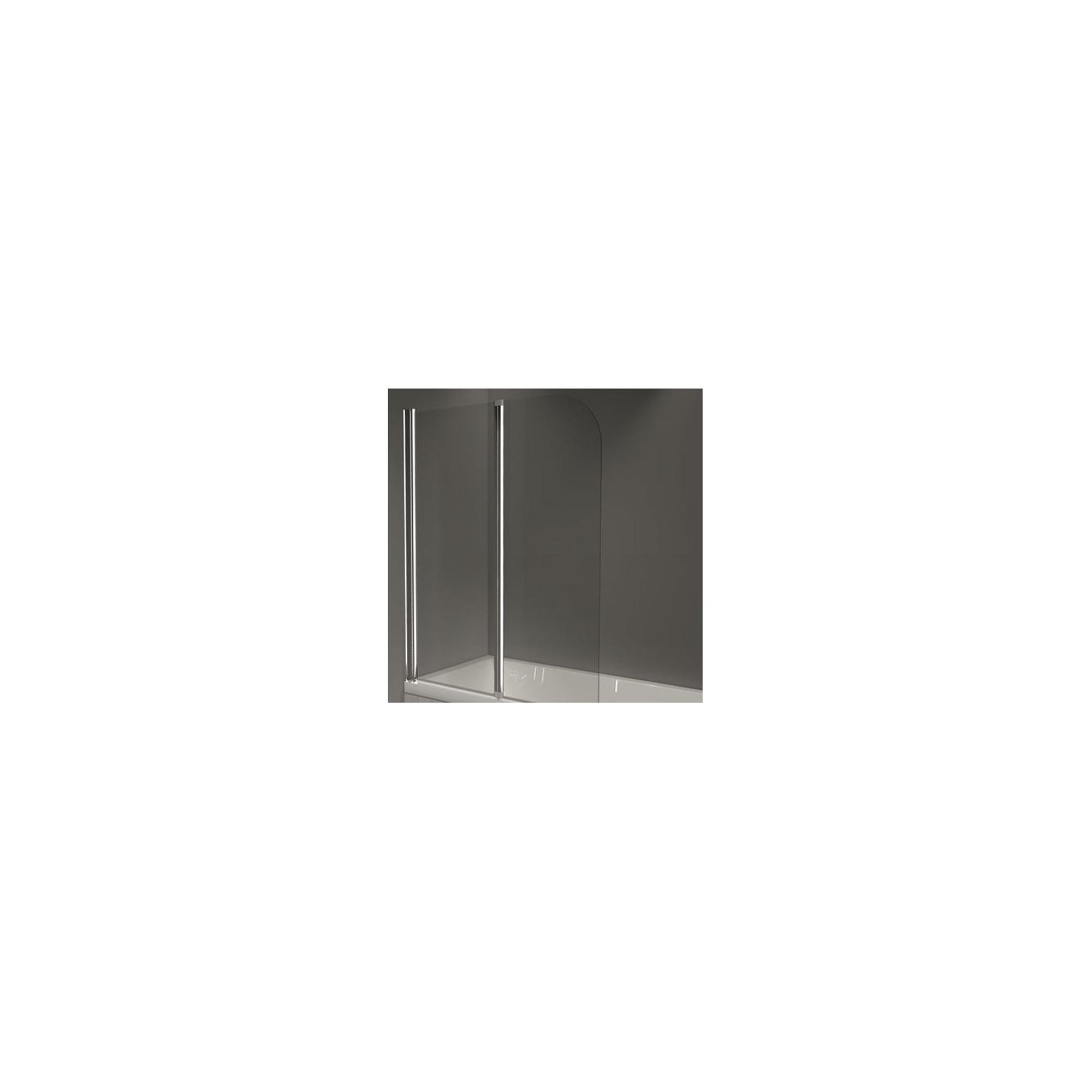 Merlyn OBS Double Folding Round Top Bath Screen, 1500mm High x 1200mm Wide, Left Handed, 6mm Glass at Tesco Direct