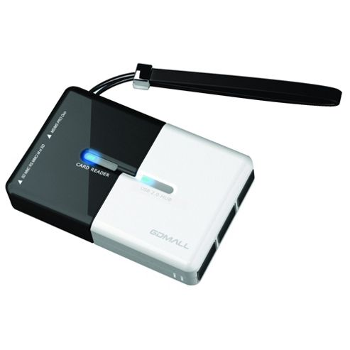 Compact Memory Card Reader & USB Hub