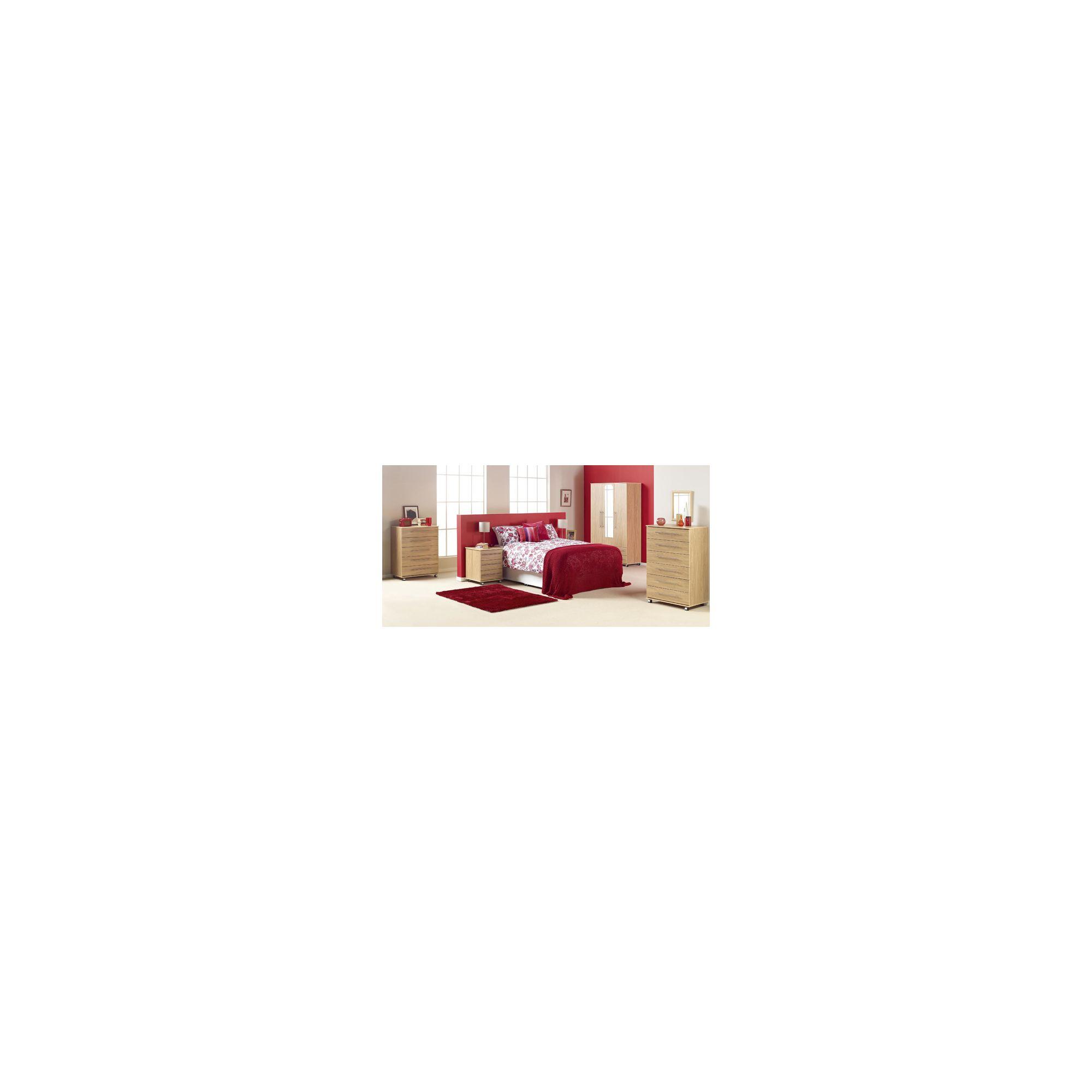 Ideal Furniture Bobby 4 Door Wardrobe - Beech at Tesco Direct