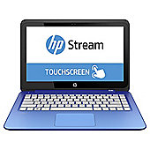 "HP Stream 13-c020na, 13.3"" Laptop, Intel  Celeron, 2GB RAM, 32GB eMMC - Blue"