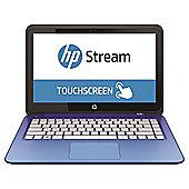 "HP Stream 13-c020na, 13.3"" Laptop, Intel  Celeron, 2GB RAM, 32GB eMMC - Blue"