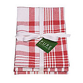 Now Designs Colour Centre Jumbo Teatowels, Red, Set of 3