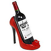 Shoe - Stiletto Shaped Wine Bottle Holder - Red / Black