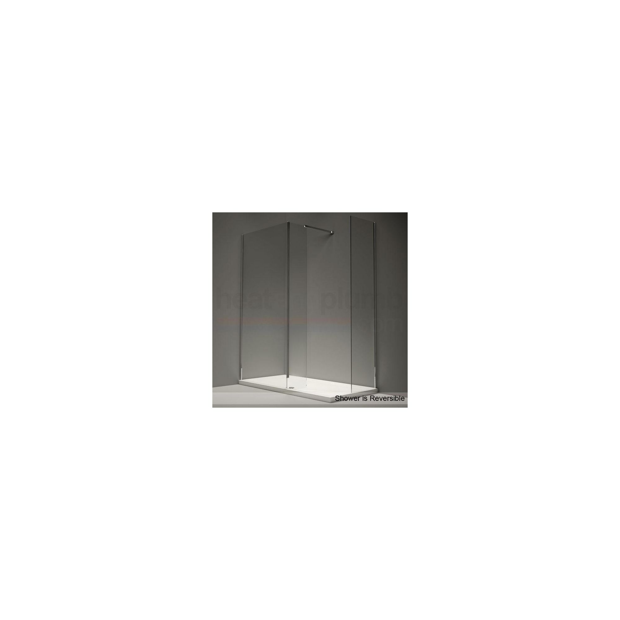Merlyn Series 9 CUBE Walk-In Shower Enclosure, 1500mm x 800mm, Low Profile Tray, 8mm Glass at Tescos Direct