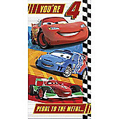 Disney Cars Birthday Card - 4 Years