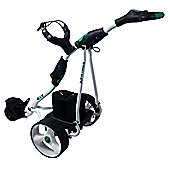 Stowamatic Gxt Electric Golf Trolley White W/ Carry Bag, Rain Cover, Cup Holder