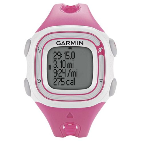 Garmin Forerunner 10 GPS Running Watch, Pink and White