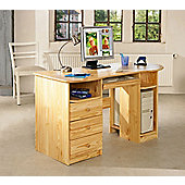 Aspect Design Touch Round Solid Pine Workstation