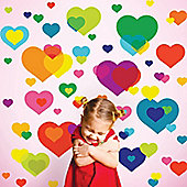 Love Hearts Children's Wall Stickers