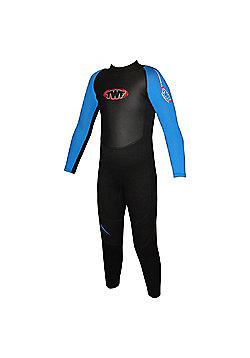 TWF Full wetsuit 2.5mm Black/Blue Age 8/9