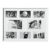 Photo Frame - with Eight Apertures - White