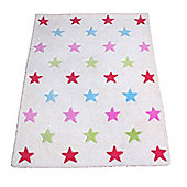 Colourful Stars Children's Rug