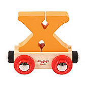 Bigjigs Rail Rail Name Letter X (Orange)