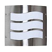 Endon Lighting Wavy Wall Lantern in Stainless Steel