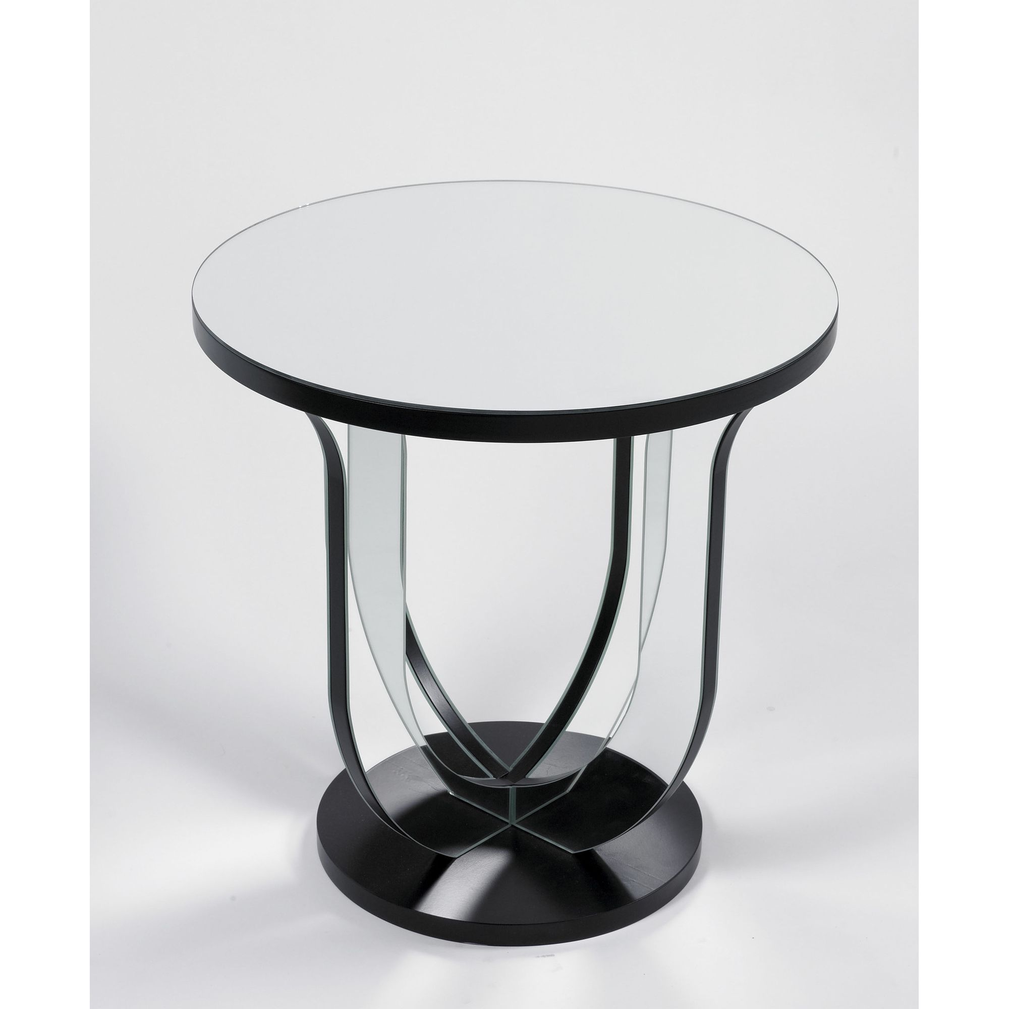 Morris Mirrors Ltd Lamp Table in Black and Silver at Tescos Direct