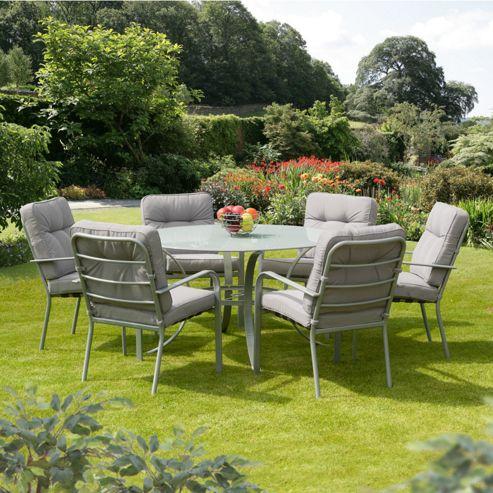Buy SunTime Evesham Grey 7 Piece Garden Dining Set From Our Garden Furniture