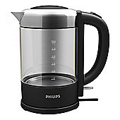 Philips HD9340 Glass Kettle with 1.5 Litre and 2200W Power with Stainless Steel