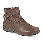 Pavers Water Resistant Boot with Side Buckle Detail - Tan