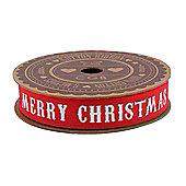 Christmas Ribbon - Red Merry Christmas